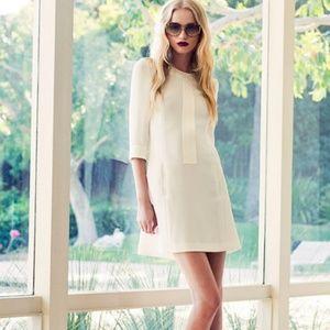 Rachel Zoe Beige Mod 3/4 Sleeve Shift Dress NWT